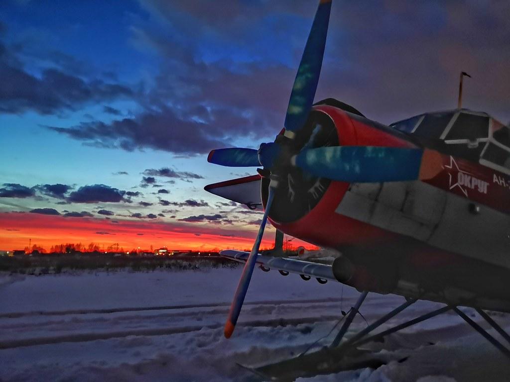 Ан-2 на закате