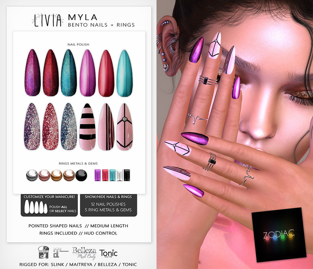 LIVIA // Myla Bento Nails + Rings
