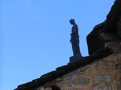 20080907 31811 1008 Jakobus La Chaze de Peyre Maria Statue Dach - Photo of Prinsuéjols