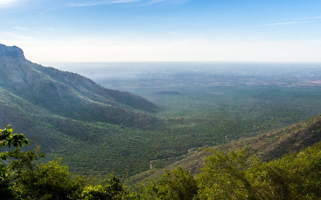 High view of Coimbatore