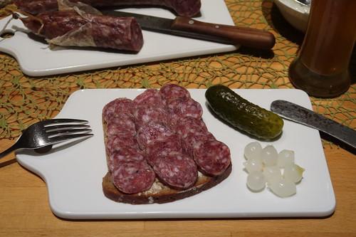 Ahle Wurscht auf 100%-Roggen-Brot
