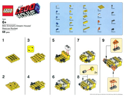 The LEGO Movie 2 Barnes & Noble Building Event Instructions