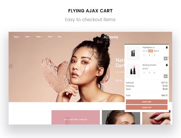 Leo Sooyoung Cosmetics Prestashop Theme - Flying Ajax Cart