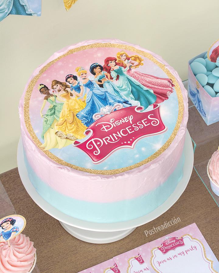tarta de princesas disney