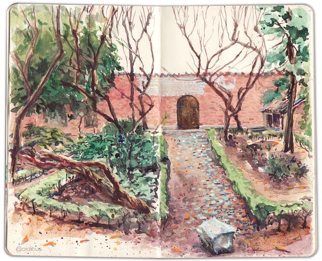 Huerto de la Casa Museo de Loper de Vega.
