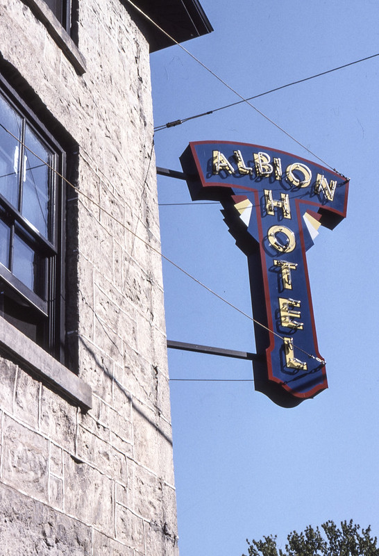 Albion Hotel Sign