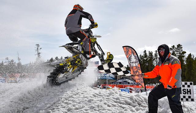Snow Bike finish line -- Explored