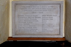 The following men employed in these works who gave their lives in the Great War