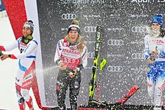 Slalom ve Špindlu vyhrála Shiffrinová, Vlhová skončila třetí
