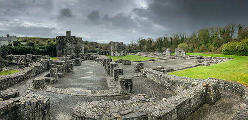Panoramic view of Mellifont Abbey Ruins - County Louth Ireland