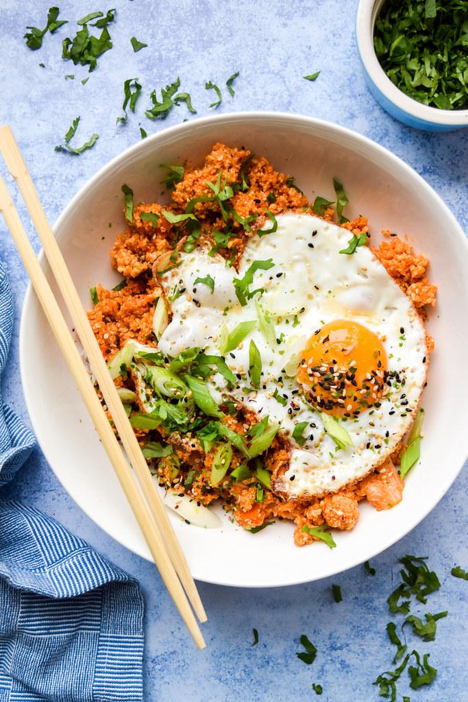 Kimchee Cauliflower Fried Rice