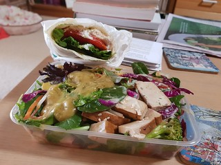 BBQ Tofu Salad, Dill Salad, Soy Nugget Wrap, from Vegerama Adelaide St
