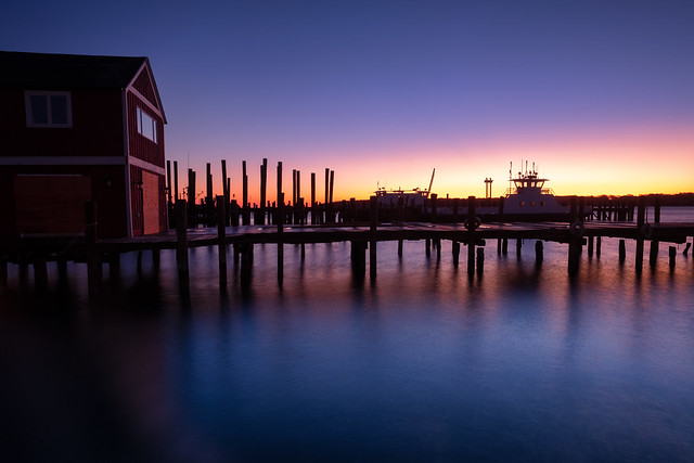 Greenport Harbor sunrise, Fujifilm X-Pro2, XF14mmF2.8 R