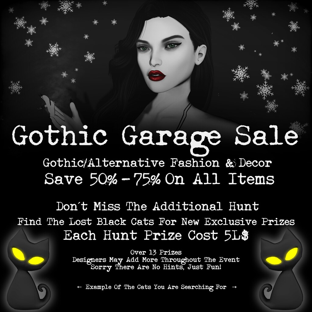 Gothic Garage Sale 2019 – Shopper & Hunt Info