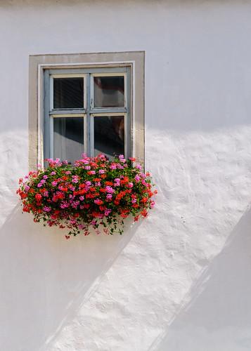 A window on the Andechser Bräustüberl