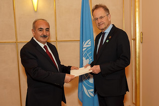 NEW PERMANENT REPRESENTATIVE OF TURKEY PRESENTS CREDENTIALS TO THE DIRECTOR-GENERAL OF THE UNITED NATIONS OFFICE AT GENEVA
