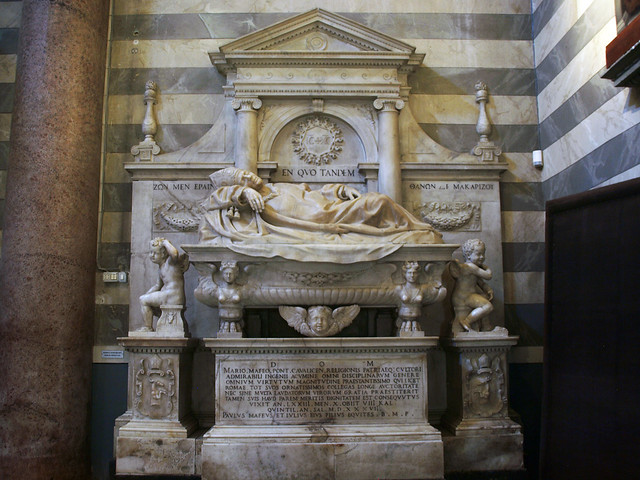 Cattedrale di Santa Maria Assunta, Funeral Monument of Mario Maffei,  Volterra, Italy 2013
