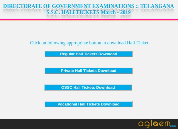 TS 10th Hall Ticket 2019 (Available) – Download Telangana SSC Hall