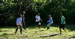Pickup Soccer Game with Locals