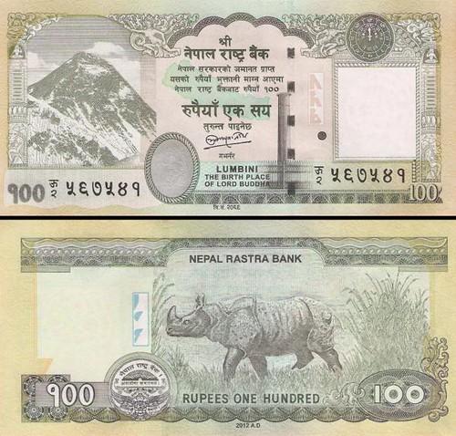 100 nepálskych rupií Nepál 2012, P73