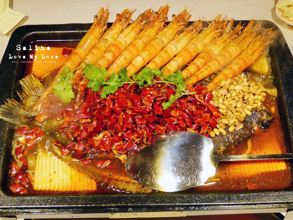 台北水貨炭火烤魚小巨蛋店火鍋餐廳好吃ig打卡推薦超厲害海鮮蝦子火鍋 (3)