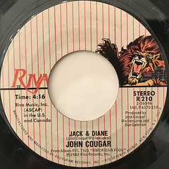 JOHN COUGAR:JACK & DIANE(LABEL SIDE-A)