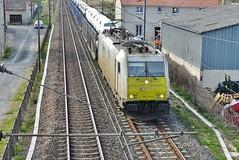 2019-03-30 - Port-à-Binson - Fret Sncf Euro Cargo Rail - Locomotive E 186 344-8 Bombardier Traxx - Photo of Troissy