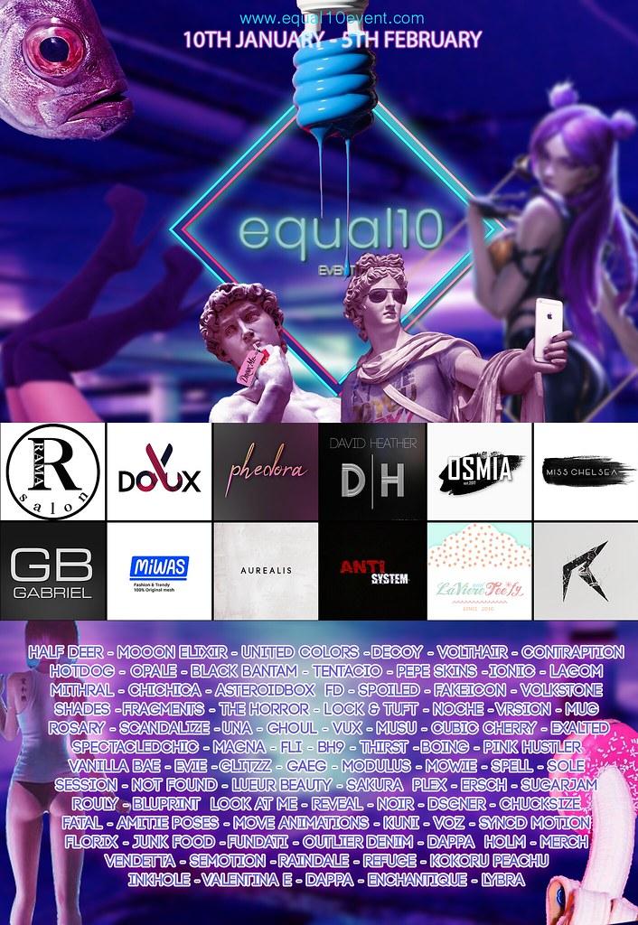 equal10 – january line up