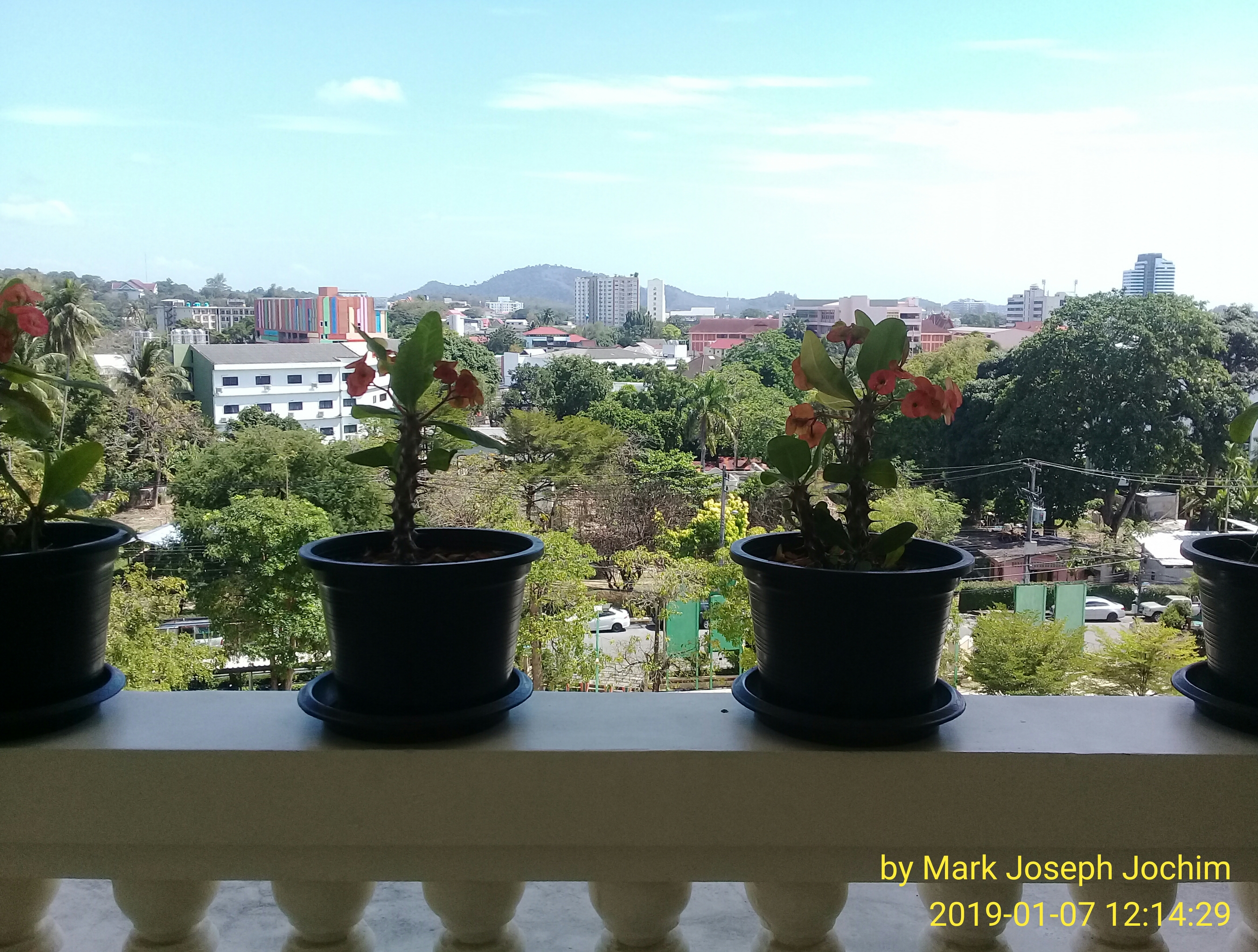 The view from my new in-school office on the 6th floor at Plukpanya Municipal School in Phuket, Thailand.