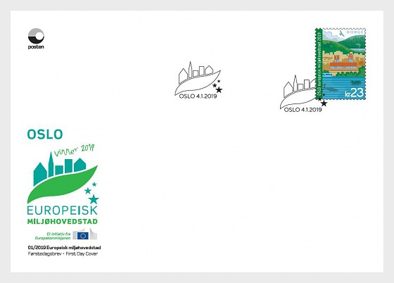 Norway - European Green Capital: Oslo (January 4, 2019) first day cover