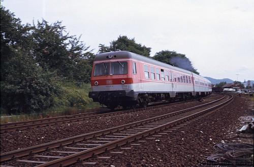 614 052-9  Bhf. Hersbruck rechts der Pegnitz 1985