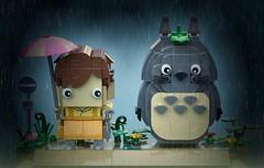 Totoro & Satsuki - BrickHeadz Moc