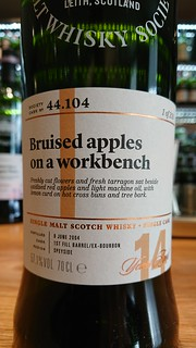 SMWS 44.104 - Bruised apples on a workbench
