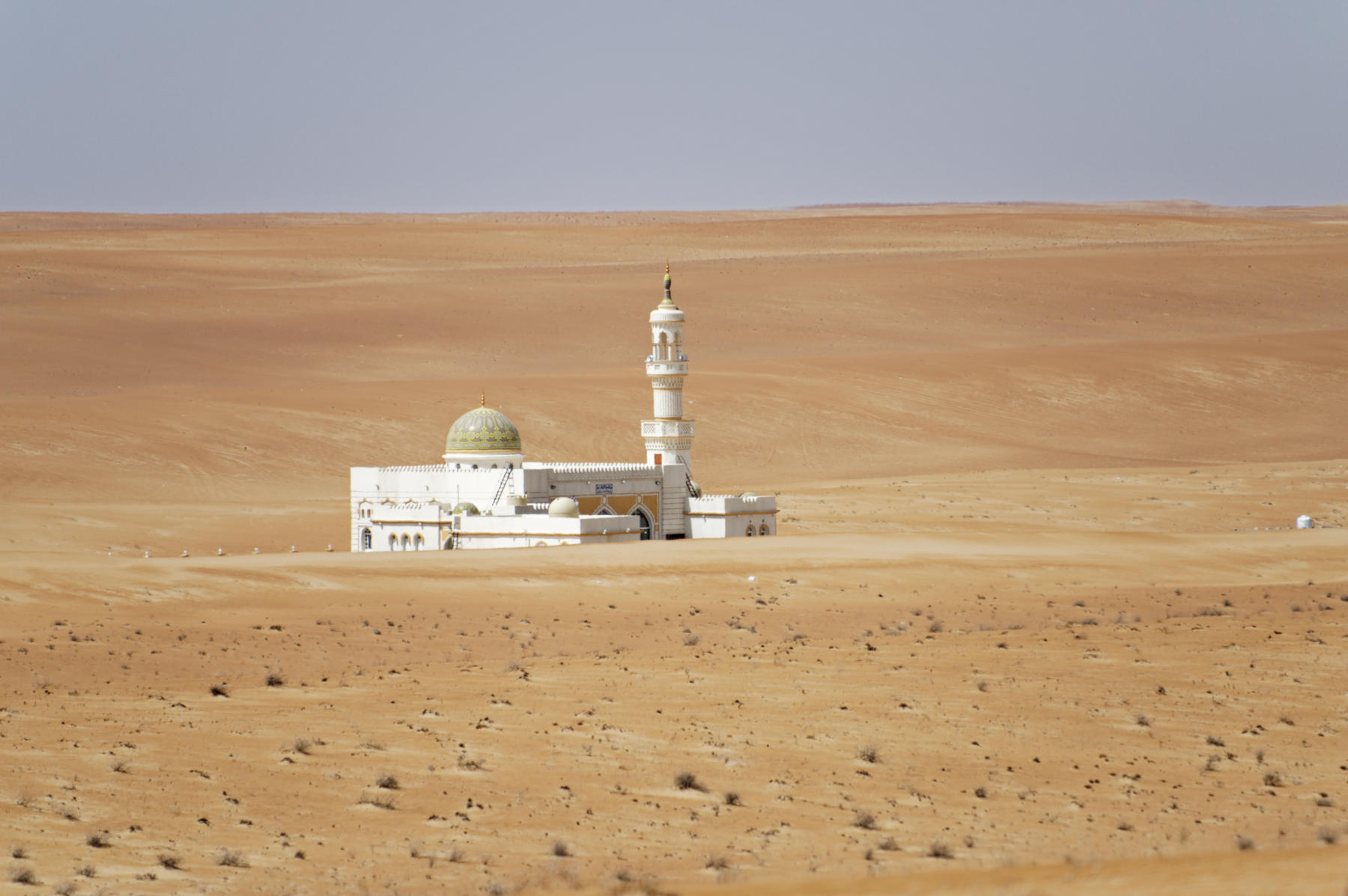 A mosque in the desert, Oman