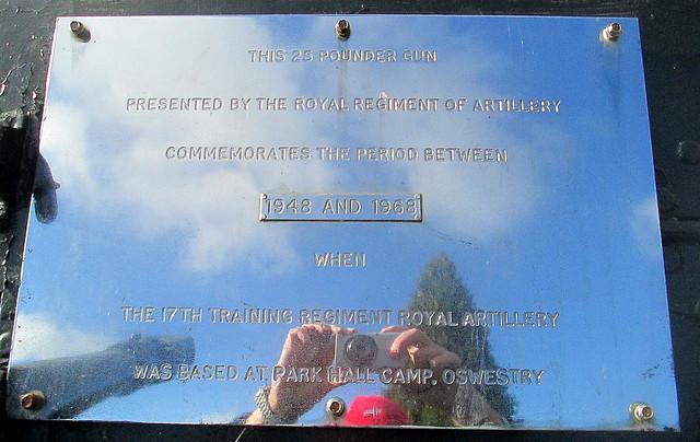 Dedication, Royal Regiment of Artillery Memorial Field Gun, Oswestry