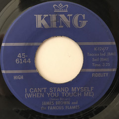 JAMES BROWN AND THE FAMOUS FLAMES:I CAN'T STAND MYSELF(WHEN YOU TOUCH ME)(LABEL SIDE-A)