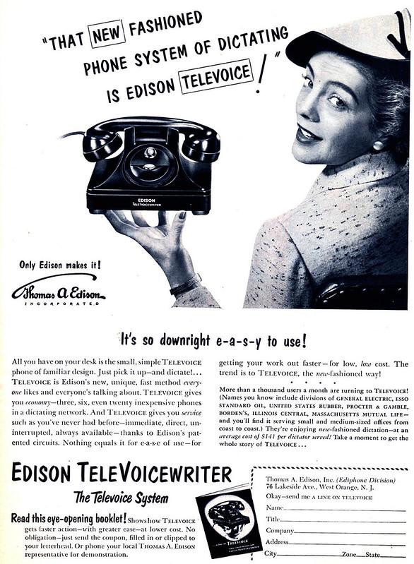 Edison Televoice Writer 1952