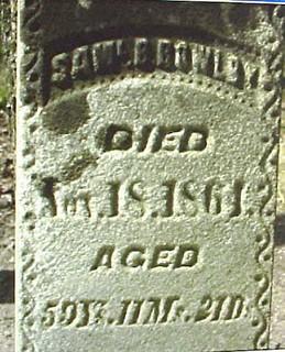 Samuel Bowlby tombstone