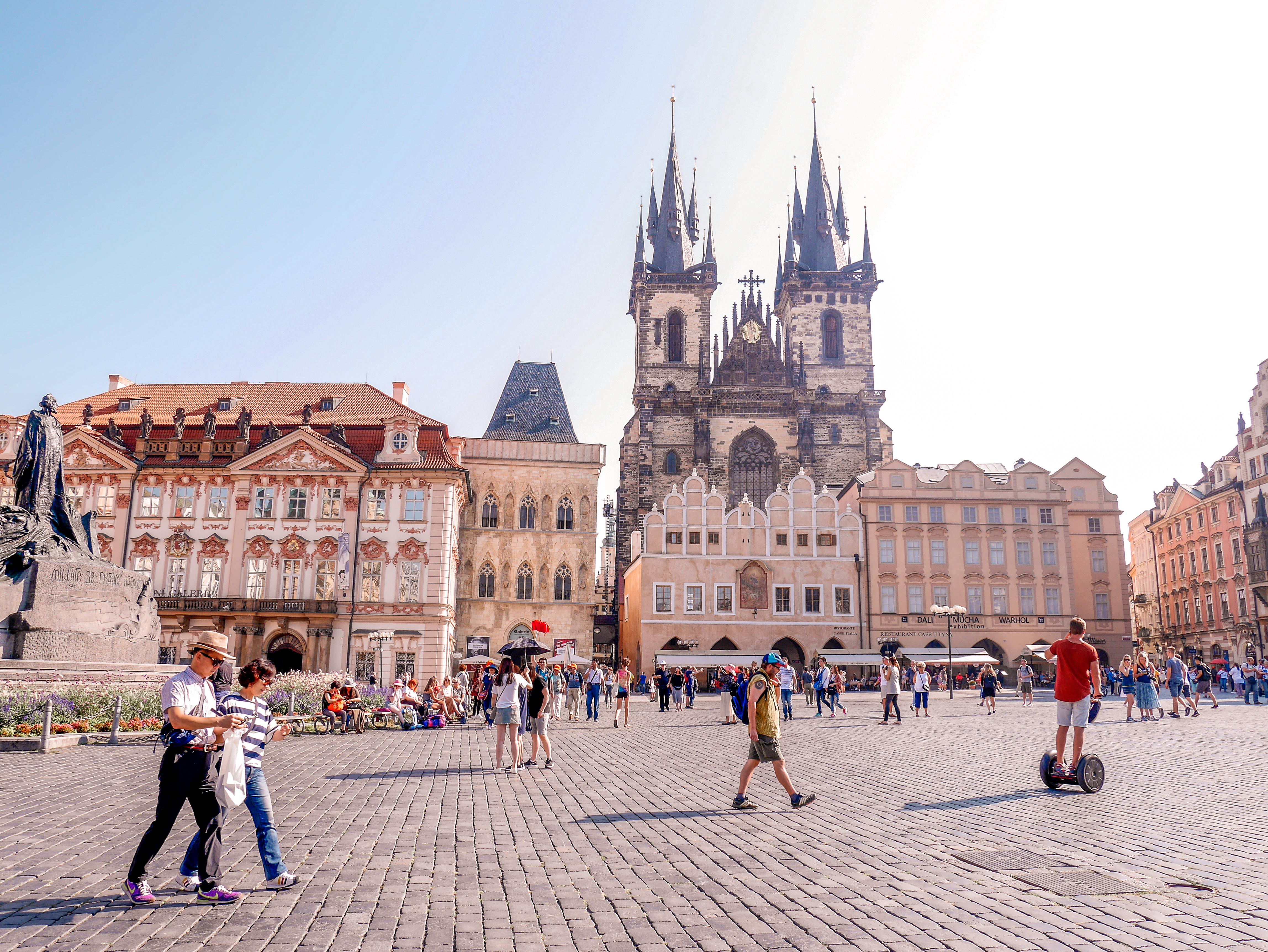 Prahan keskusaukio.
