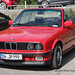 Red BMW E30 3-Series Cabrio