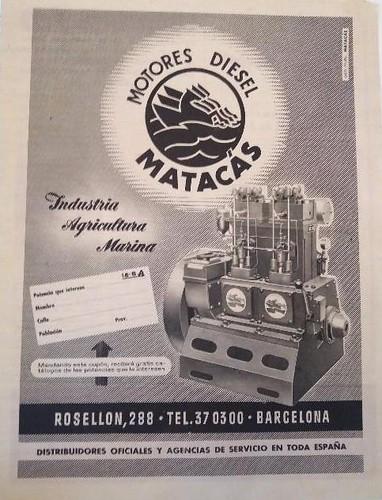 motor dièsel Matacàs 1956
