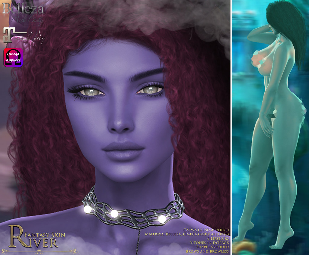 -Elemental- 'River' Fantasy Skin Appliers Advert @ Skin Fair 2019 - TeleportHub.com Live!