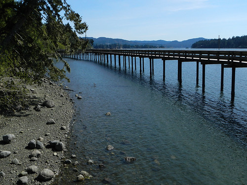 The Boardwalk at Ed McGregor Park in Sooke on Vancouver Island, Canada