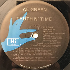AL GREEN:TRUTH N' TIME(LABEL SIDE-B)