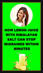 How Lemon Juice With Himalayan Salt Can Stop Migraines Within Minutes