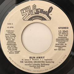 THE SALSOUL ORCHESTRA:RUN AWAY(LABEL SIDE-A)