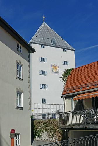 2019-03-17 Sylvensteinsee, Bad Tölz 037 Bad Tölz, Turm der Franzmühle