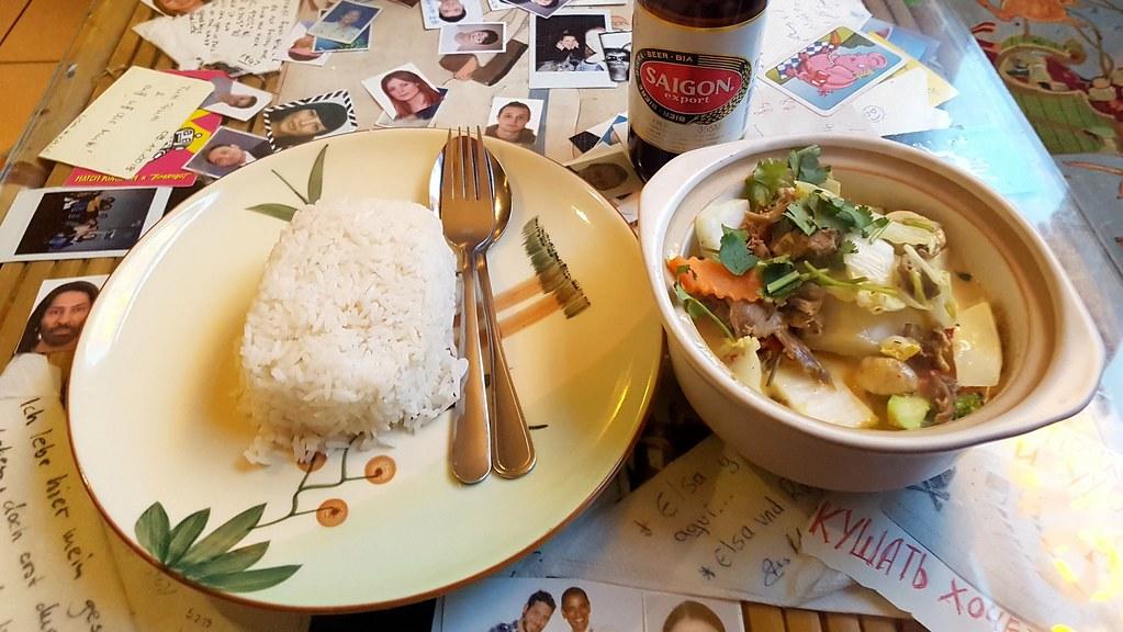 vietnamesischer Curry bei Com Viet in Berlin am Alexanderplatz