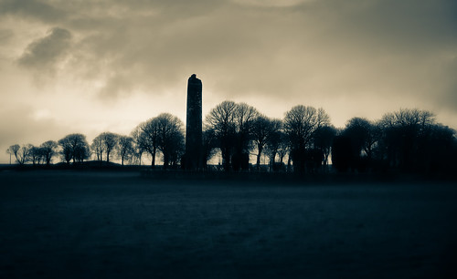 Round Tower of Mainistir Bhuithe Monasterboice - Monastery of Buithe - County Louth Ireland
