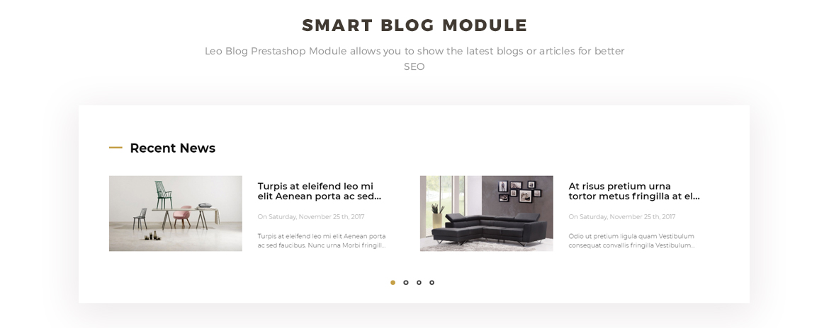 smart blog module - men fashion prestashop theme